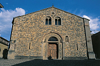 0419995 © Granger - Historical Picture ArchiveART & ARCHITECTURE.   Facade of a cathedral, Fornovo Di Taro, Emilia-Romagna, Italy Full credit: De Agostini / R. Carnovalini / Granger, NYC -- All Rights Reserved.