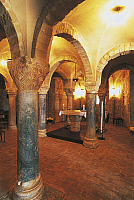 0420016 © Granger - Historical Picture ArchiveART & ARCHITECTURE.   Interiors of an abbey, Abbazia Did S. Maria Did Rambona, Pollenza, Marches, Italy Full credit: De Agostini / C. Sappa / Granger, NYC -- All Rights Reserved.