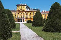 0420155 © Granger - Historical Picture ArchiveART & ARCHITECTURE.   Formal garden in front of a palace, Esterhazy Palace, Fertod, Gyor-Moson-Sopron, Hungary Full credit: De Agostini / D. Cavadini / Granger, NYC -- All Rights Reserved.