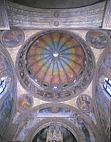 0420387 © Granger - Historical Picture ArchiveART & ARCHITECTURE.   Low angle view of a painted ceiling of a chapel, Portinari Chapel, Milan, Lombardy, Italy Full credit: De Agostini / M. Carrieri / Granger, NYC -- All Rights Reserved.