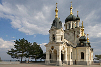 0420704 © Granger - Historical Picture ArchiveART & ARCHITECTURE.   The Church of Christ's Resurrection (1892), Foros, Crimea, Ukraine Full credit: De Agostini / W. Buss / Granger, NYC -- All Rights Reserved.