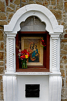 0420719 © Granger - Historical Picture ArchiveART & ARCHITECTURE.   Altar with a painting of the Madonna and Child in the Church of the Mother of God, Feodosia, Crimea, Ukraine Full credit: De Agostini / W. Buss / Granger, NYC -- All Rights Reserved.