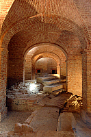 0421257 © Granger - Historical Picture ArchiveART & ARCHITECTURE.   Ruins of Roman theatre (1st century AD) beneath Antiques Museum, Turin, Piedmont, Italy Full credit: De Agostini / C. Sappa / Granger, NYC -- All Rights Reserved.
