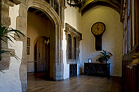 0421427 © Granger - Historical Picture ArchiveART & ARCHITECTURE.   Room of Leeds castle, Built between 12th-16th century in Romanesque and Renaissance style, Maidstone, Kent, United Kingdom Full credit: De Agostini / W. Buss / Granger, NYC -- All Rights Reserved.