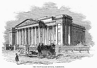 0096609 © Granger - Historical Picture ArchiveFITZWILLIAM MUSEUM, 1843.   Exterior of the Fitzwilliam Museum, the art and antiquities museum of the University of Cambridge in England. Wood engraving, 1843.