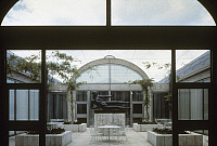 0115466 © Granger - Historical Picture ArchiveKAHN: KIMBELL ART MUSEUM.   Interior view of the north courtyard at the Kimbell Art Museum in Fort Worth, Texas, designed by Louis Kahn, 1966-72.