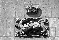 0165633 © Granger - Historical Picture ArchiveBLOIS: ROYAL EMBLEM.   Salamander emblem of King Francis I of France (1494-1547). Relief detail from the facade of the Château de Blois, in the Loire Valley.