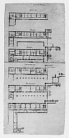 0132776 © Granger - Historical Picture ArchiveEL ESCORIAL: APARTMENTS.   Six plans for the royal apartments at El Escorial palace in Spain. Drawing by architect Juan de Herrera, c1570.