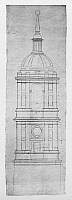 0132781 © Granger - Historical Picture ArchiveEL ESCORIAL: TOWER.   Cross section of one of the towers of the basilica of El Escorial monastery in Spain. Drawing by architect Juan de Herrera, c1570.