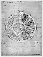 0132783 © Granger - Historical Picture ArchiveEL ESCORIAL: FLOOR PLANS.   Several different designs for red and black inlaid marble floor of the Pantheon of the Kings at El Escorial palace in Spain. Drawing by architect Juan de Herrera, c1570.