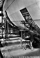 0090854 © Granger - Historical Picture ArchiveZEPPELIN CONSTRUCTION.   Construction of the Graf Zeppelin LZ 127 airship at the Zeppelin Aircraft Works in Friedrichshafen, Germany. Early 20th century postcard.