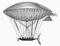 0090989 © Granger - Historical Picture ArchiveDUPUY DE LÔME AIRSHIP.   Navigable airship invented by Dupuy de Lôme in the 1870s.
