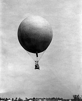 0109896 © Granger - Historical Picture ArchiveU.S. ARMY BALLOON, 1907.   Balloon in flight during U.S. Signal Corps operations at Fort Meyer, Virginia, 1907.