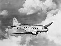 0029325 © Granger - Historical Picture ArchiveDOUGLAS DC-3.   An Amercian Airlines DC-3 passenger and U.S. Air Express mail carrier.