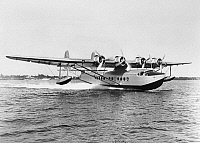 0171741 © Granger - Historical Picture ArchiveSIKORSKY FLYING BOAT, 1934.   A Sikorsky S-42 Flying Boat operated by Pan American Airways. Photograph, 1934.