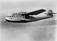 0171743 © Granger - Historical Picture ArchiveMARTIN FLYING BOAT, c1937.   A Martin M-130 flying boat operated by Pan American Airways. Photograph, c1937.