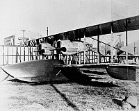0028031 © Granger - Historical Picture ArchiveLOCKHEED SEAPLANE, 1916.   The first Lockheed airplane, the F-1 flying boat, the world's largest seaplane at the time of its construction in 1916 at the company's Santa Barbara, California, factory.
