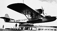 0076250 © Granger - Historical Picture ArchiveFLYING-BOAT, 1925.   Dornier Wal flying-boat on catapult aboard M.V. Friesland, 1925. The aircraft was built in Italy for use in Germany.