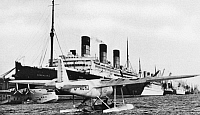 0091256 © Granger - Historical Picture ArchiveFLYING BOAT, c1938.   Imperial Airways flying boat at Southampton Docks, c1938.