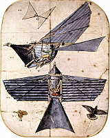 0068410 © Granger - Historical Picture ArchiveORNITHOPTER, 1810.   Diagram of Thomas Walker's ornithopter.