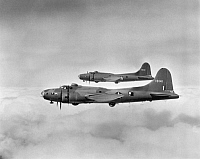 0028714 © Granger - Historical Picture ArchiveWWII: FLYING FORTRESS.   A Boeing B17 'Flying Fortress'.