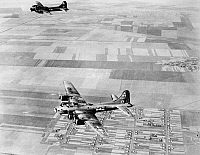 0028715 © Granger - Historical Picture ArchiveFLYING FORTRESS, 1944.   A Boeing B17 'Flying Fortress', returning to its base after a mission over Romania, 1944, in World War II.
