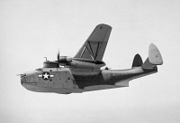 0076698 © Granger - Historical Picture ArchiveU.S. NAVY FLYING BOAT.   A Martin PBM Mariner flying 'boat' in World War II.