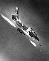 0091267 © Granger - Historical Picture ArchiveF-86 JET FIGHTER PLANE.   Korean War era North American F-86 Sabre combat aircraft in flight.
