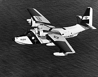 0091423 © Granger - Historical Picture ArchiveU.S. COAST GUARD PLANE.   An SA-16 'Albatross' flying boat operated by the U.S. Coast Guard. Mid-20th century photograph.