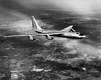 0091491 © Granger - Historical Picture ArchiveCONVAIR YB-60, 1952.   The Convair YB-60, an American bomber aircraft prototype, during a test flight at Carswell Air Force Base in Fort Worth, Texas, 1952.
