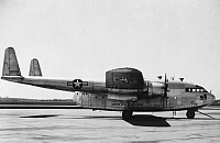 0091495 © Granger - Historical Picture ArchiveC-119 FLYING BOXCAR.   The Fairchild C-119 Flying Boxcar, a U.S. military transport aircraft. Mid 20th century photograph.