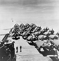 0091559 © Granger - Historical Picture ArchiveTHE FIGHTING LADY, 1944.   Fighter planes on board the military aircraft carrier, USS Yorktown, in a scene from the American propaganda film, 'The Fighting Lady,' 1944.