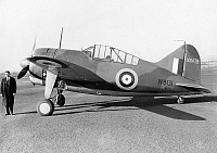 0091630 © Granger - Historical Picture ArchiveBRITISH FIGHTER PLANE, 1941.   The Brewster F2A Buffalo fighter plane of the British Royal Air Force, 1941.