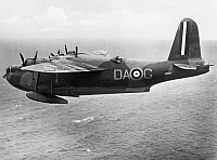 0091640 © Granger - Historical Picture ArchiveWWII: BRITISH FLYING BOAT.   British Sunderland flying boat, photographed during World War II.