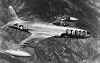 0171862 © Granger - Historical Picture ArchiveLOCKHEED F-80, 1948.   The Lockheed F-80 Shooting Star of the U.S. Air Force. Photograph, 1948.