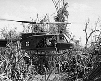 0173347 © Granger - Historical Picture ArchiveVIETNAM WAR: MEDEVAC, 1969.   A Bell UH-1D Medevac helicopter takes off to pick up a wounded member of the 101st Airborne Division of the U.S. Army, during the Vietnam War. Photograph, 16 October 1969.