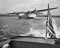 0002356 © Granger - Historical Picture ArchiveBOEING 314 CLIPPER, 1940.   A Pan American Clipper on Flushing Bay, New York City, c1940.