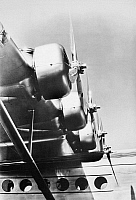 0028034 © Granger - Historical Picture ArchiveSIKORSKY ENGINES, 1937.   Starboard engines of a Sikorsky S-42 flying boat, first used in trans-Pacific service in 1937.