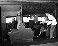 0171729 © Granger - Historical Picture ArchivePASSENGER PLANE, c1934.   Interior of an American Airlines Curtiss Condor passenger plane. Photograph, c1934.