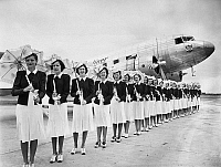 0175049 © Granger - Historical Picture ArchiveFLIGHT ATTENDANTS, c1940.   Stewardesses of United Airlines. Photograph, c1940.