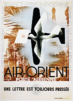 0091856 © Granger - Historical Picture ArchiveAVIATION POSTER, 1932.   French poster for Air Orient, 1932.