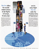 0409954 © Granger - Historical Picture ArchiveAD: PAN AM, 1961.   American advertisement for Pan Am airline, 1961.