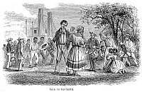 0032395 © Granger - Historical Picture ArchiveSLAVE AUCTION, 19th CENTURY.   'Sold to go south.' Wood engraving, mid-19th century.