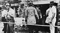 0168809 © Granger - Historical Picture ArchiveBIRMINGHAM: BOMBING, 1963.   Victims of the bombing of the Sixteenth Street Baptist Church in Birmingham, Alabama, are removed after the explosion which killed four children.