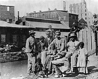 0260089 © Granger - Historical Picture ArchiveRICHMOND: FREEDMEN, c1865.   A group of freed slaves in Richmond, Virginia. Photograph, c1865.