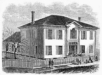 0267564 © Granger - Historical Picture ArchiveFREEDMEN SCHOOL, 1867.   A Freedmen School in Atlanta, Georgia. Wood engraving, American, 1867.