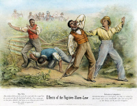 0007000 © Granger - Historical Picture ArchiveFUGITIVE SLAVE ACT, 1850.   'Effects of the Fugitive Slave Law.' An anti-Fugitive Slave Act cartoon. Engraving, 1850.