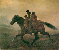 0022737 © Granger - Historical Picture ArchiveFUGITIVE SLAVES, c1862.   The Ride for Liberty, The Fugitive Slaves. Oil by Eastman Johnson, c1862.