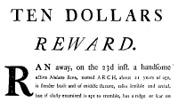 0029932 © Granger - Historical Picture ArchiveSLAVE ADVERTISEMENT, 1793.   Newspaper advertisement for a runaway slave, Arch, inserted by Ignatius Davis of Fredericktown, Maryland on 24 June 1793.