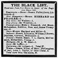 0101550 © Granger - Historical Picture ArchiveFUGITIVE SLAVE ACT, 1850.   'The Black List.' Contemporary broadside attacking free-state Congressmen who voted for the Fugitive Slave Act of 1850.